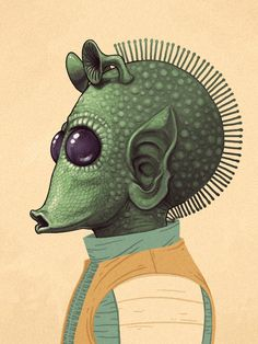 Greedo from Star Wars by Mike Mitchell
