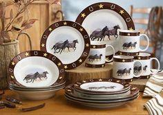 16 Pcs. Western Dinnerware $39.95 & Cowboys Dinnerware Set - 18 pcs - (west western dishes) | On The ...