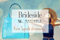 Its looks fabulous Enter for your chance to win this gorgeous Kate Spade bag from Wantable and Brideside! Kate Spade Bag, Make Me Happy, Giveaway, Competition, Spring Handbags, Projects To Try, Fashion Spring, My Favorite Things, My Love
