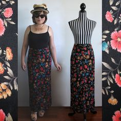90s floral maxi skirt // size S/M // free shipping in Australia