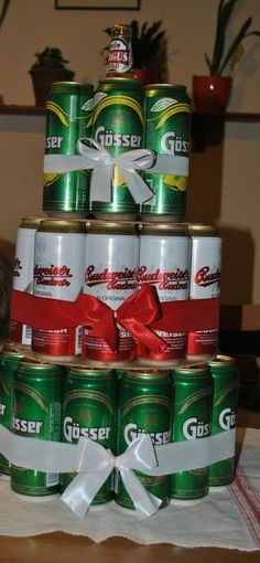 Birthday, 40. Birthday, ajándék, beer, Budwaiser, Gösser, Natur Zitrone Birthday 40, Canning, Lemon, Nature, Home Canning