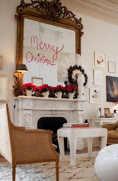 lipstick holiday greeting. sara ruffin costello's holiday decor