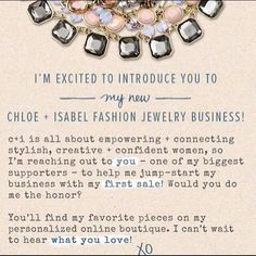 C+I Help support my new business and making my first sale!! Spread the word! Visit my boutique today to host a pop-up or purchase! Link in bio! Thx  Chloe + Isabel Jewelry