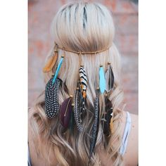 Feather Headband Coachella Boho Feather Headband Feather Headpiece... ($30) ❤ liked on Polyvore featuring accessories, hair accessories, hair, grey, headbands & turbans, bohemian headbands, crown headband, hair band headband, boho chic headbands and wide headbands