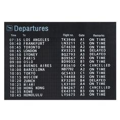 Departures doek