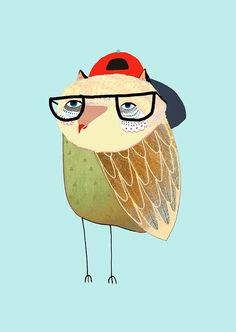 Awesome Owl. limited art edition print by Ashley by AshleyPercival, $40.00