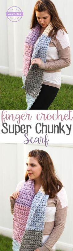 Finger Crochet Super Chunky Scarf