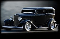 Beautiful chopped 32 model A sedan