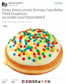 Birthday Cake Doughnuts are a hit!