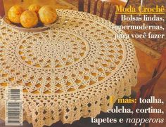 Crochet and arts: Crochet napkin Crochet Tablecloth Pattern, Free Crochet Doily Patterns, Crochet Sunflower, Crochet Leaves, Diy Crafts Crochet, Crochet Home, Crochet Round, Irish Crochet, Crochet Table Topper