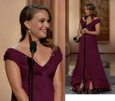 Natalie Portman Oscars 2011 accepting her oscar which she very much deserved for her amazing work in black swan