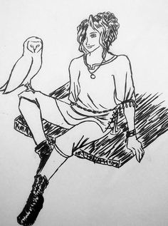 "Mandy Fannin on Twitter: ""My sister's halfling druid, Vivi, and her owl…"