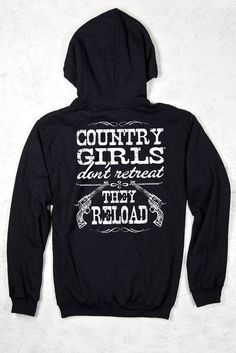 BACK VIEW - Black - Relaxed Pullover Hoodie - Country Girls™™ Reload