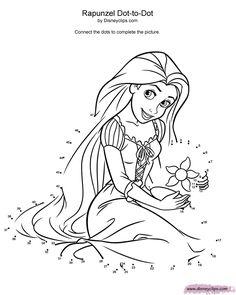 Princess Jasmine Sitting Down Dot To Dot Printable