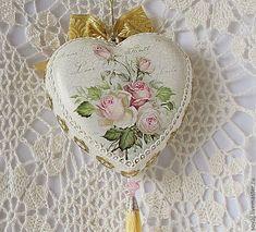 """Купить Большое интерьерное сердце """" Мелодия нежности"""" - розовый, сердце, интерьерное сердце"""