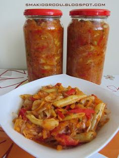 Smaki ogrodu: LECZO Z FASOLKI SZPARAGOWEJ NA ZIMĘ Meals In A Jar, Polish Recipes, Canning Recipes, Food Design, Preserves, Food And Drink, Dessert Recipes, Vegetarian, Yummy Food