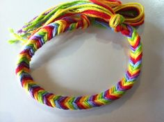 DIY friendship bracelets rainbow fishtail