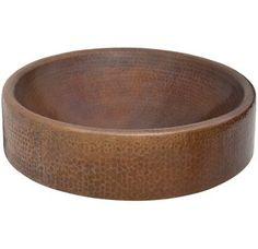 """View the Thompson Traders RCDW 17"""" Drop In / Vessel Baccus Round Semi-Double Wall Handcrafted Copper Sink from the Limited Editions Collection at FaucetDirect.com."""