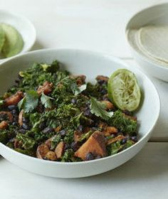 Sweet Potato, Black Bean and Kale Skillet