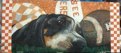 """UT mascot """"Smokey"""", mural for classroom"""