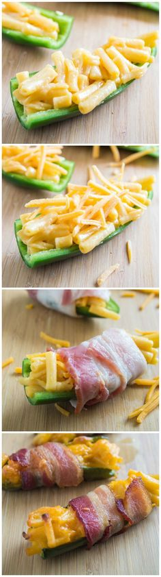 Mac & Cheese Stuffed Jalapenos.   The ULTIMATE Gameday snack!  #NaturallyCheesy #ad