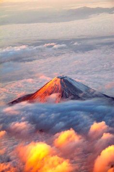 Mt. Fuji from 40,000ft by ~UpQuark