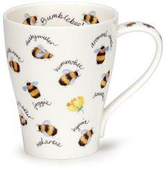 Dunoon - Fine Bone China Mugs - Solway Shape : Bug Folklore Bees