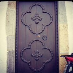 Quatrefoil doors...