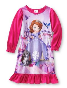 2281910085 Amazon.com  Disney Little Girls  Sofia The First Royal Achiever Nightgown  (4T)  Clothing