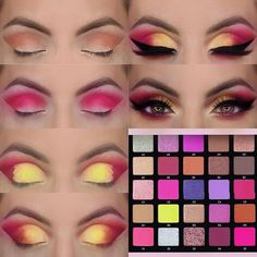 Eye Makeup Steps, Makeup Eye Looks, Eye Makeup Art, Eyeshadow Makeup, Eyeshadow Palette, Make Up Kits, Makeup Goals, Makeup Inspo, Ojos Color Cafe
