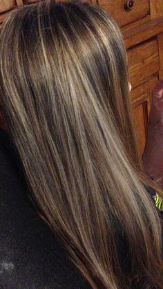 Tween girl hilights hair