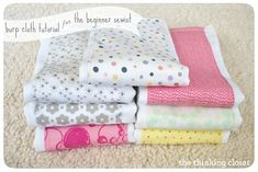 Burp Cloth DIY tutorial