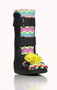 Rainbow and Flower Medical Boot Accessories Air Cast Boot, Walking Cast Boot, Walking Boots, Broken Foot, I'm Broken, Ankle Surgery, Leg Cast, Boot Bling, Moon Boots