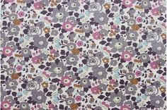 Liberty tana lawn printed in Japan - Betsy Ann - Gray mint mix, fat quarter. Used for Purl Bee Winter Baby Bonnet.
