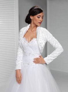 Long Sleeve Winter Bridal Wrap Warm Velvet Bolero  Bridal Coat Elegant Wedding Jacket With Sleeves