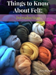 Things To Know About Felt - Introduction Cover- Acorns & Twigs