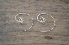 bijzondere cirkelvormige zilveren oorbellen