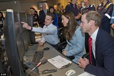 The couple looked interested as William Richards showed them the main operations centre of...