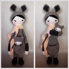 KIRA the kangaroo made by Rebekahlaw / crochet pattern by lalylala