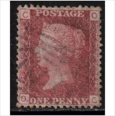 GB 1858 1d Red plate 74 used http://fr.ebid.net/for-sale/gb-scott-33-sg43-1858-1865-1d-red-plate-74-used-stamps-117126848.htm