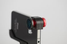 Olloclip: A three-in-one clip-on lens for macro, fisheye, and wide-angle photos and videos on an iPhone 4. via macworld. Find it here http://tinyurl.com/7jvfspd