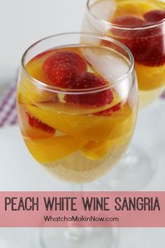 nice Peach White Wine Sangria