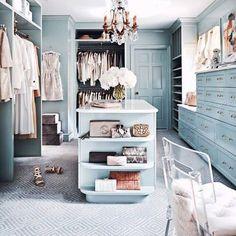 Pretty pale blue dressing room