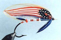 All American Salmon Fly - gotta love it -