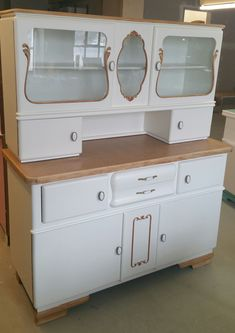 Kitchen buffet - furniture redesign individually according to your ideas . Kitchen buffet – furniture redesign individually according to your ideas – www. 1950s Furniture, Garage Furniture, Kitchen Furniture, Painted Furniture, Furniture Ideas, Kitchen In, Kitchen Storage, Vintage Kitchen, Kitchen Cabinets