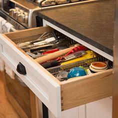 new kitchen utensils drawer organizer in recent kitchen remodel Utensil Drawer Organization, Kitchen Organization, Kitchen Utensils, Kitchen Cabinets, Kitchen Cabinet Accessories, Cabinet Companies, Drawer Organisers, Custom Cabinets, New Kitchen