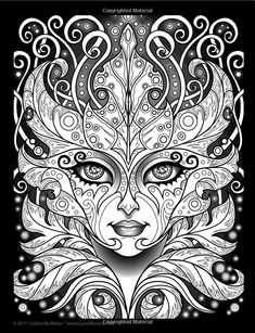 """Lost Lumina Coloring Book: A Sequel to """"The Lumina Chronicles"""" (Volume Cristina McAllister Printable Adult Coloring Pages, Cute Coloring Pages, Coloring Pages To Print, Coloring Books, Free Coloring, Colorful Drawings, Colorful Pictures, Weird Pictures, Mandalas Drawing"""