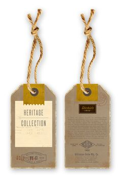 Dickie's Hang Tags by Dustin Wallace. Web Design, Print Design, Logo Design, Hangtag Design, Design Cars, Label Design, Print Packaging, Packaging Design, Packaging Ideas