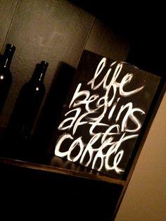 Life Begins After Coffee by HarleyandElise on Etsy, $15.00