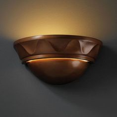 Ambiance Hammered Pewter Small Cyma With Waves Bathroom Wall Sconce - (In FFF-Hammered Pewter(HMPW))